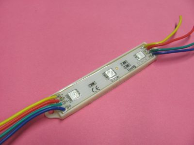 LED modul 3x5050 RGB, IP65,12V/0,72W 78(92)x15x6mm